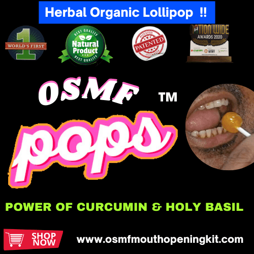 OSMF Herbal Lollipops Oral Submucous Fibrosis Mouth Opening Kit Gujarat India